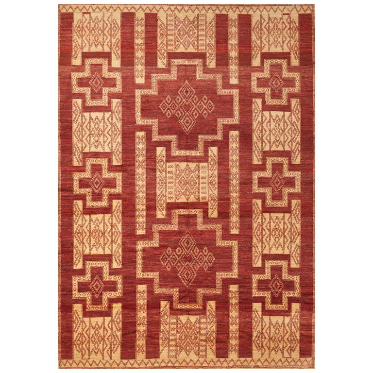 Schumacher Kamila Area Rug in Hand Knotted Wool Silk, Patterson Flynn Martin For Sale