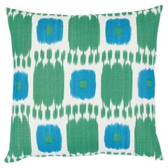 Schumacher Kandira Pillow in Peacock