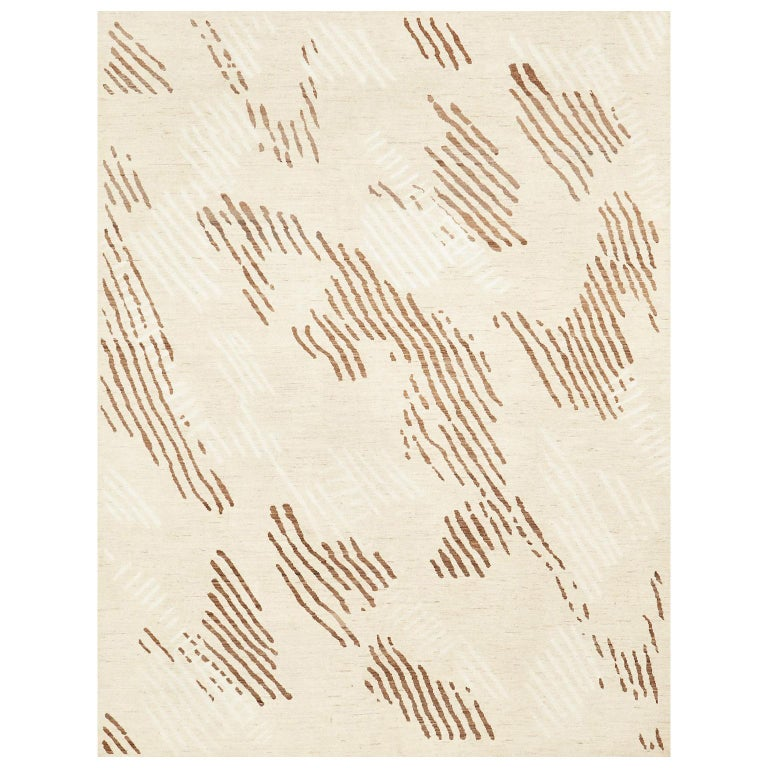 Schumacher Kenai Area Rug in Hand-Knotted Wool & Silk by Patterson Flynn Martin For Sale