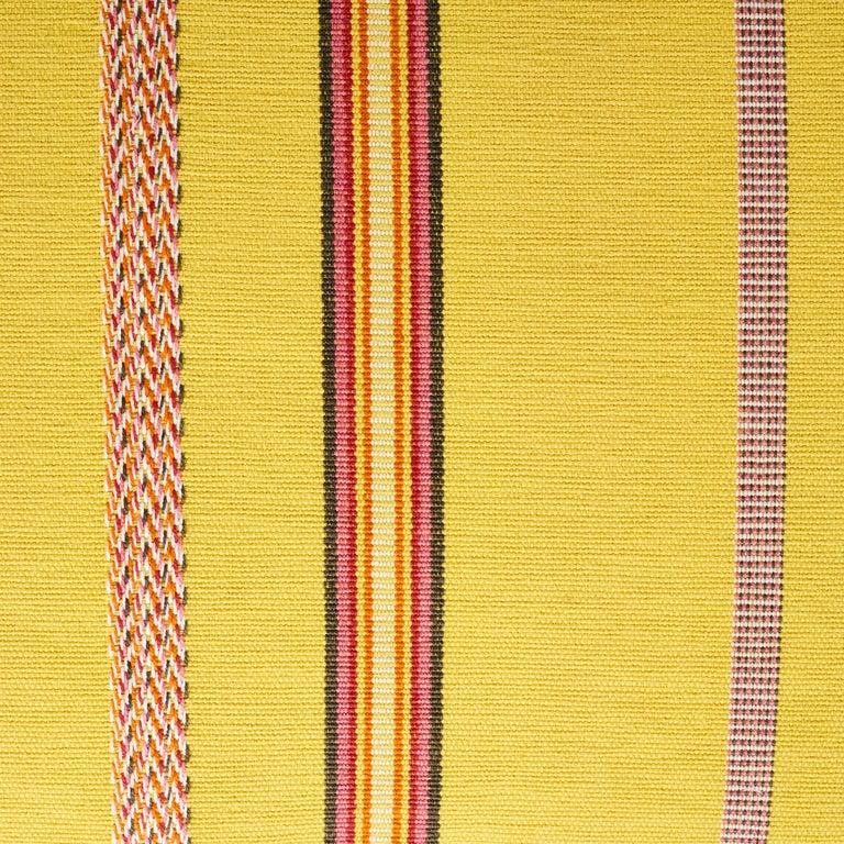 Modern Schumacher Kayenta Yellow Two-Sided Cotton Lumbar Pillow For Sale