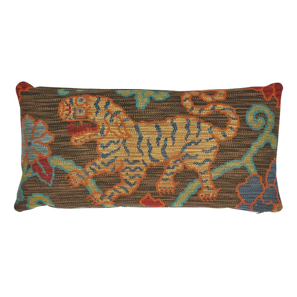 Schumacher Khotan Weave Pillow in Sable