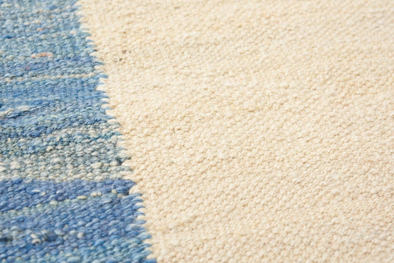 Contemporary Schumacher Kilim Area Rug in Handwoven Wool, Patterson Flynn Martin For Sale