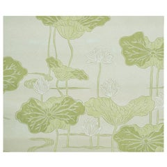 Schumacher Kireina Lotus Wallpaper Mural in White Ivory