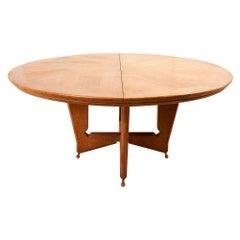 Schumacher Large Oak Table by Guillerme & Chambron, Votre Maison Edition