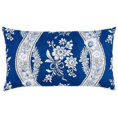 Schumacher Le Castellet Lumbar Pillow in Indigo