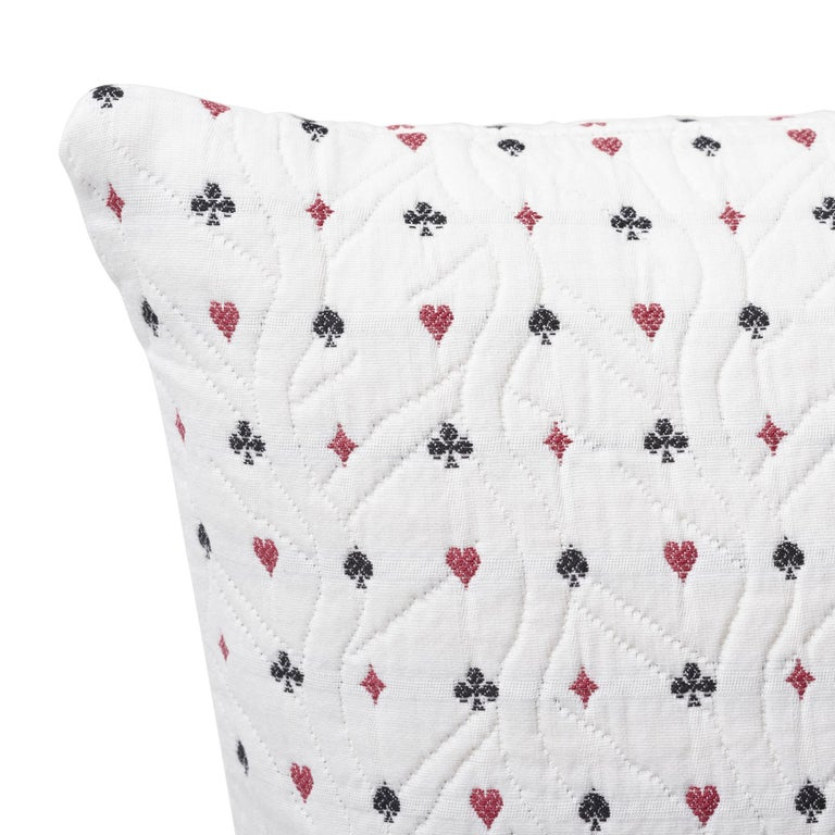 Modern Schumacher Le Joueur Rouge Noir Two-Sided Cotton Pillow For Sale