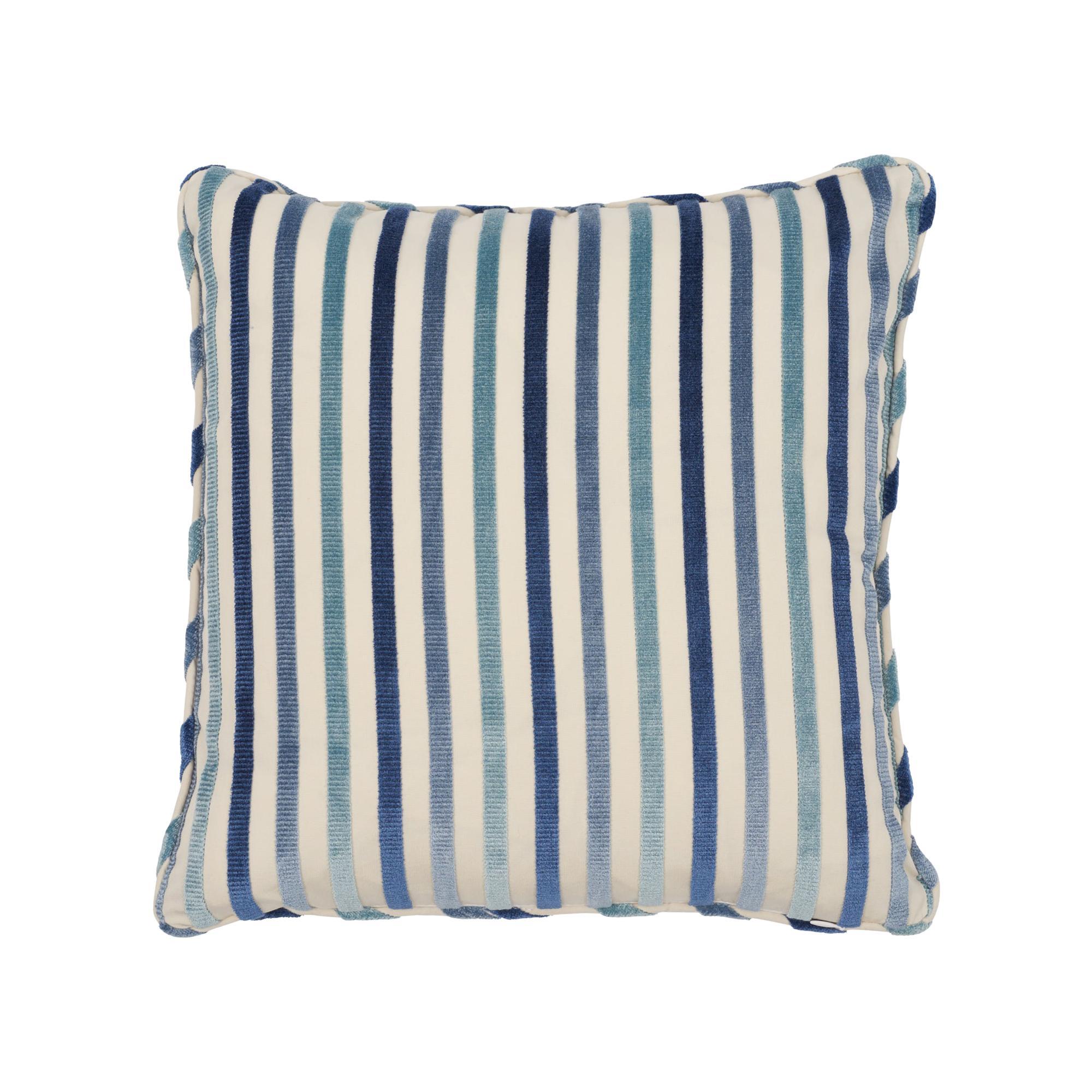 Schumacher Le Matelot Blue Two-Sided Pillow