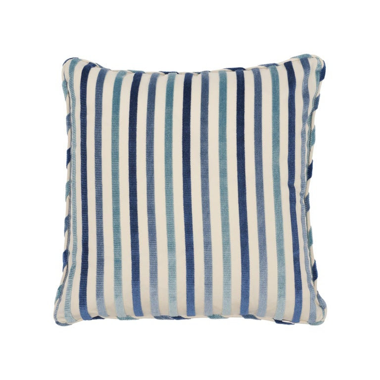 Schumacher Le Matelot Blue Two-Sided Pillow For Sale
