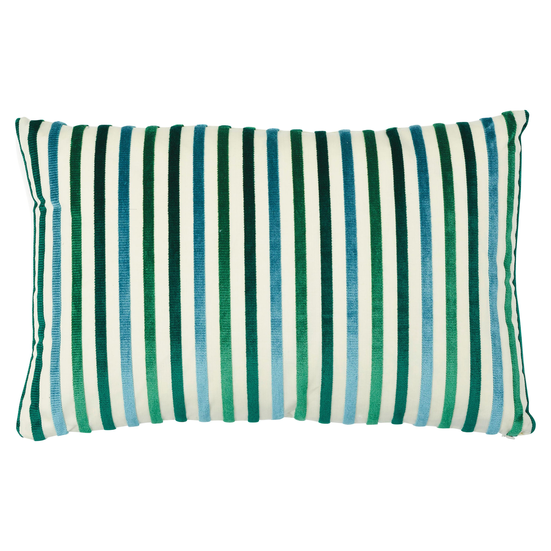 Schumacher Le Matelot Lumbar Pillow in Peacock