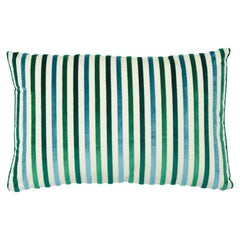 Schumacher Le Matelot Lumbar Pillow in Peacock