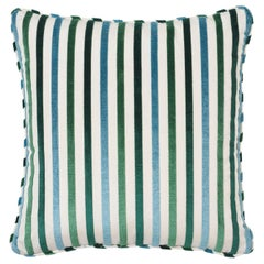 Schumacher Le Matelot Peacock Two-Sided Pillow