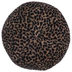 Schumacher Lilya Leopard Sphere Pillow in Natural