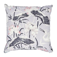 Schumacher Lotus Garden Pillow in Lilac