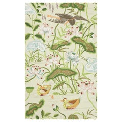 Schumacher Lotus Garden Wallpaper in Parchment