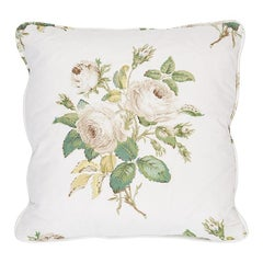 Schumacher Loudon Rose Pillow in Ivory