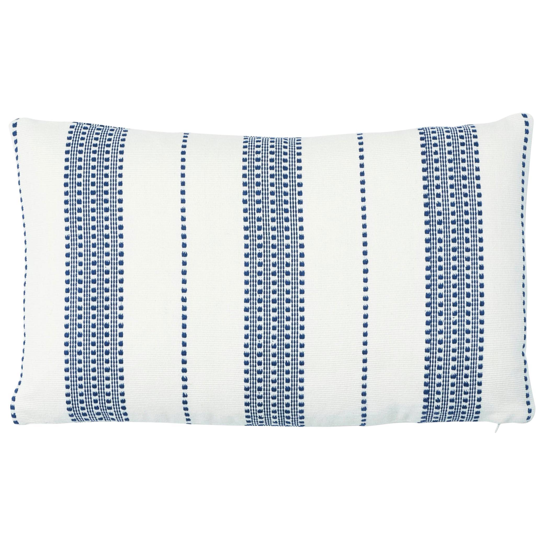Schumacher Lubeck Stripe Pillow in Navy