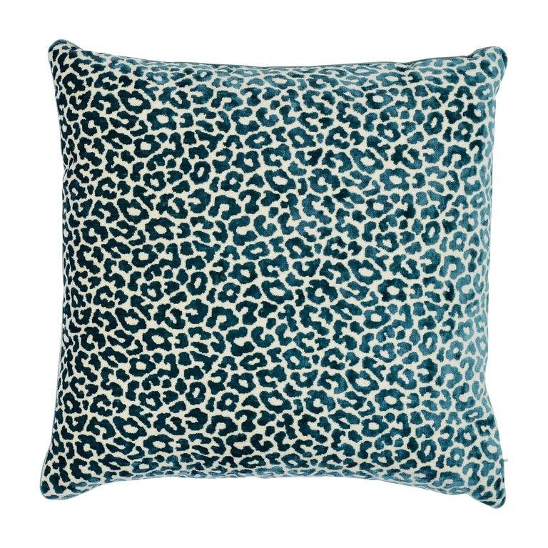 Schumacher Madeleine Cadet Two-Sided Velvet Pillow For Sale