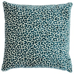 Schumacher Madeleine Cadet Two-Sided Velvet Pillow