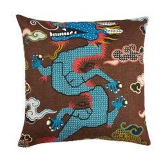 """Schumacher Magical Ming Dragon 20"""" Pillow"""