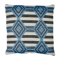 Schumacher Manta Performance Blue Two-Sided Pillow