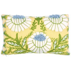 Schumacher Marguerite Embroidery Pillow in Buttercup