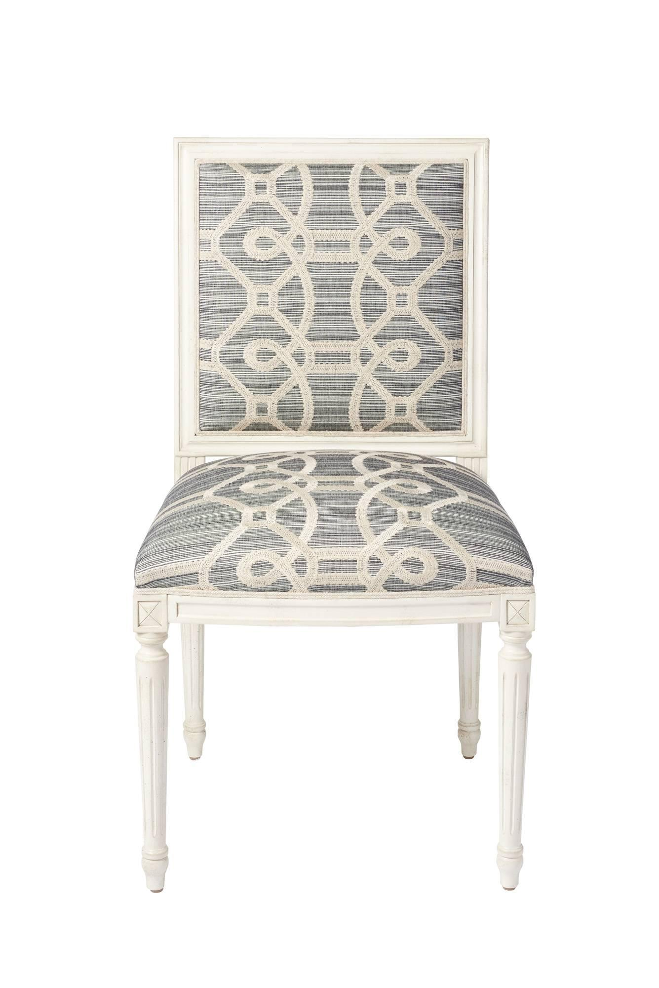 Attrayant Schumacher Marie Therese Ziz Embroidery Strié Hand Carved Beechwood Side  Chair For Sale At 1stdibs