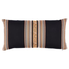 Schumacher Markova Stripe Pillow in Black