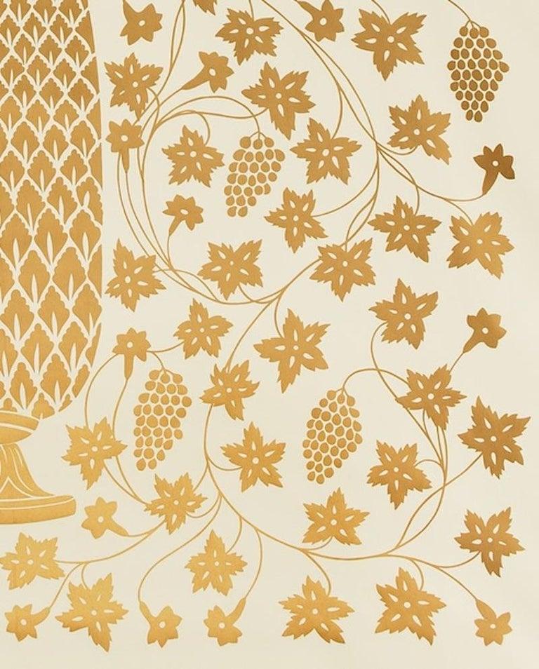 Schumacher Martyn Lawrence Bullard Mughal Panel Burnished Gold Wallpaper Panel For Sale 1
