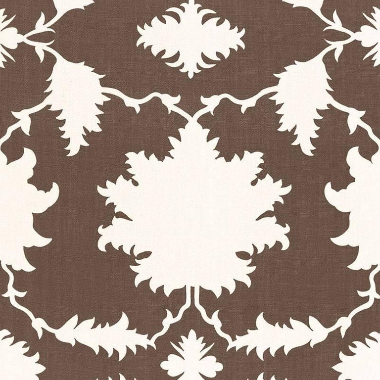 Schumacher Mary McDonald Garden of Persia Floral Gray Two-Sided 18