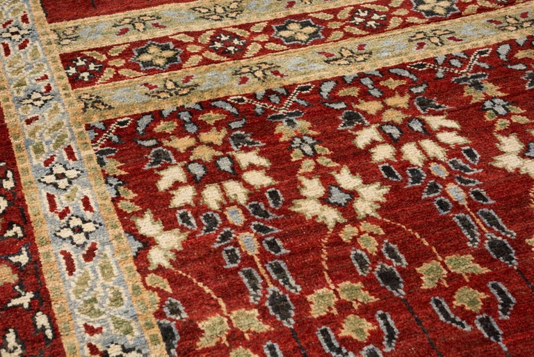 Tribal Schumacher Meetra Area Rug in Hand Knotted Wool Silk, Patterson Flynn Martin For Sale
