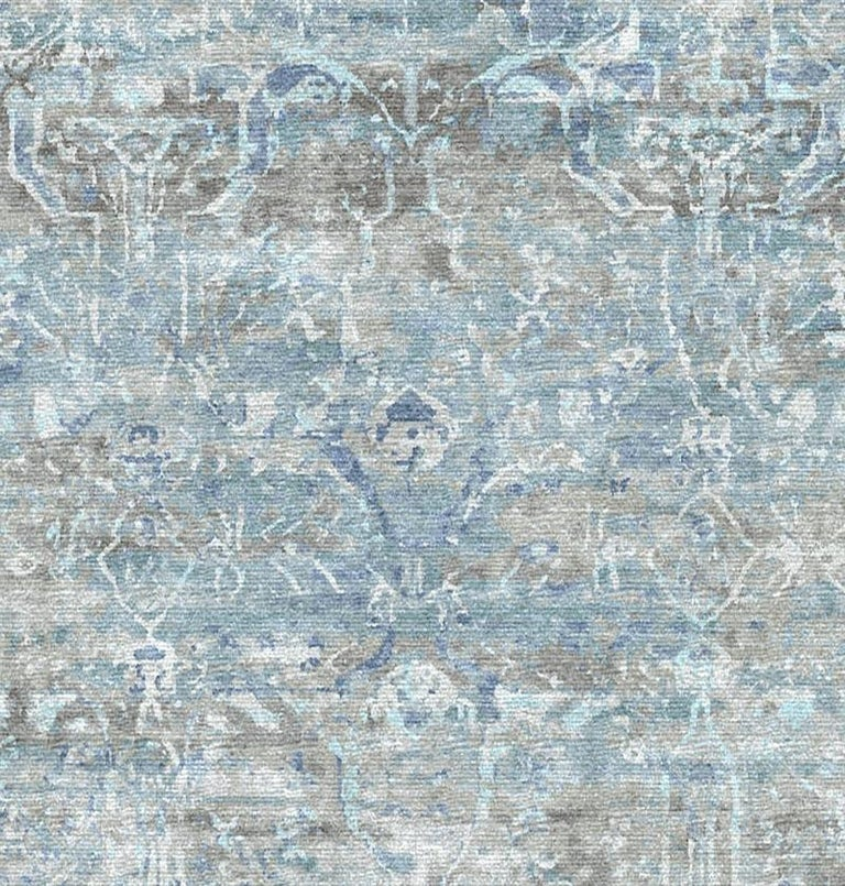 Modern Schumacher Melange Area Rug in Hand-Knotted Wool by Patterson Flynn Martin For Sale
