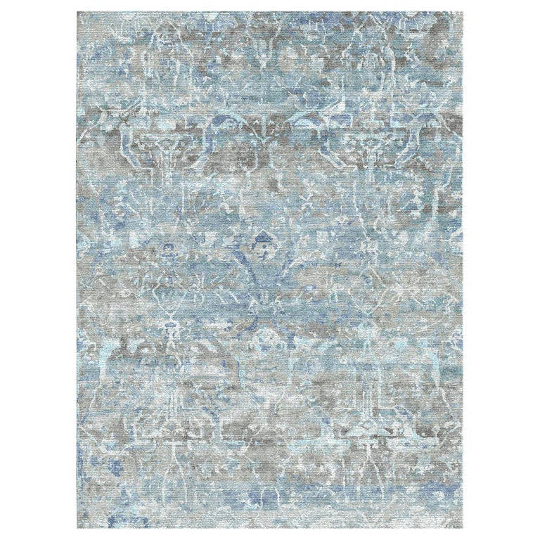 Schumacher Melange Area Rug in Hand-Knotted Wool by Patterson Flynn Martin For Sale