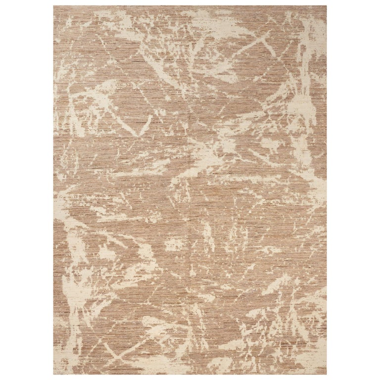 Schumacher Miraj Area Rug in Hand Knotted Wool Silk, Patterson Flynn Martin For Sale