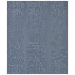 Schumacher Moiré Wall Covering in Ocean