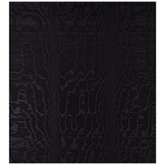 Schumacher Moire Wallcovering in Noir