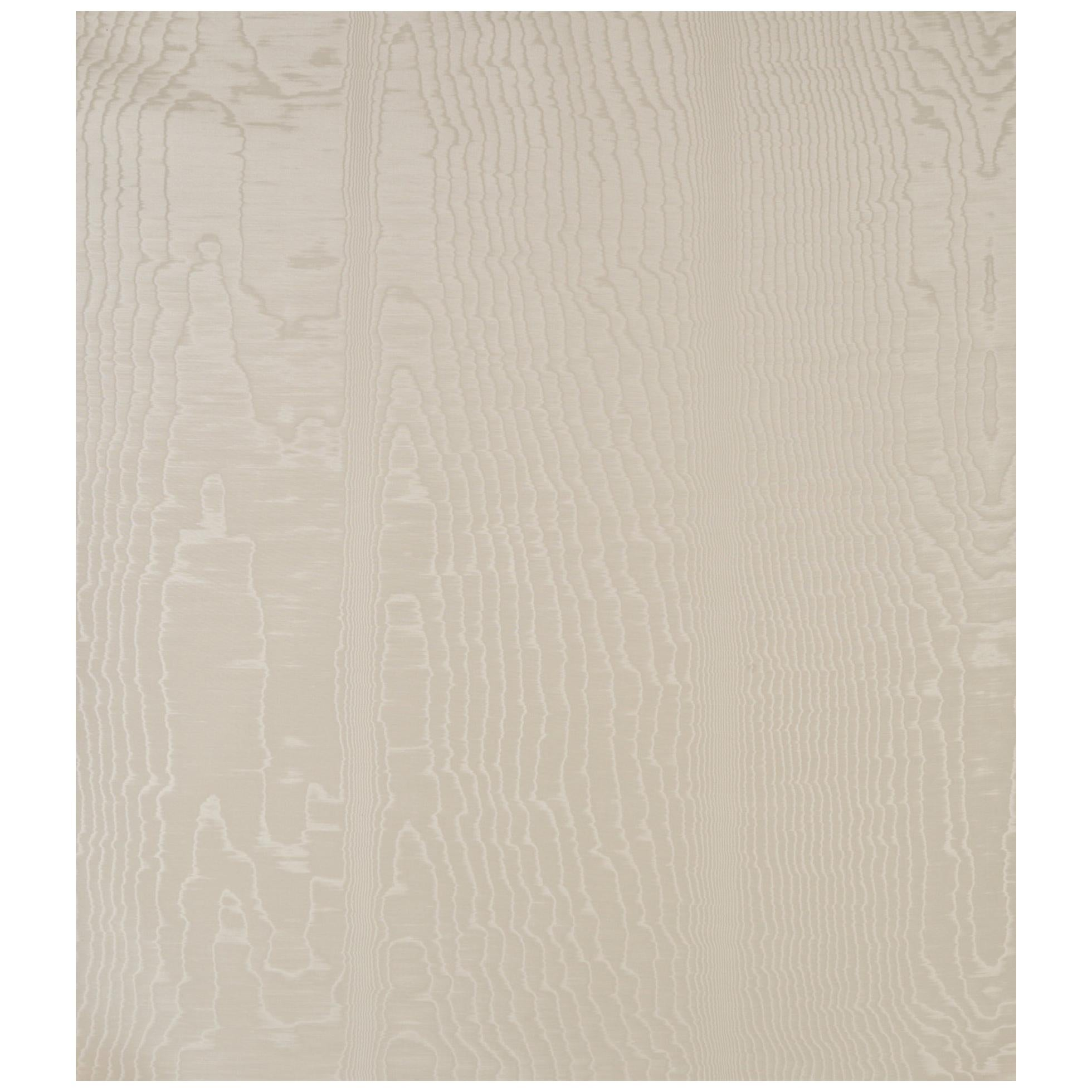 Schumacher Moire Wallcovering in Parchment