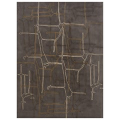Schumacher Movement Abstract Area Rug in Wool Silk, Patterson Flynn Martin