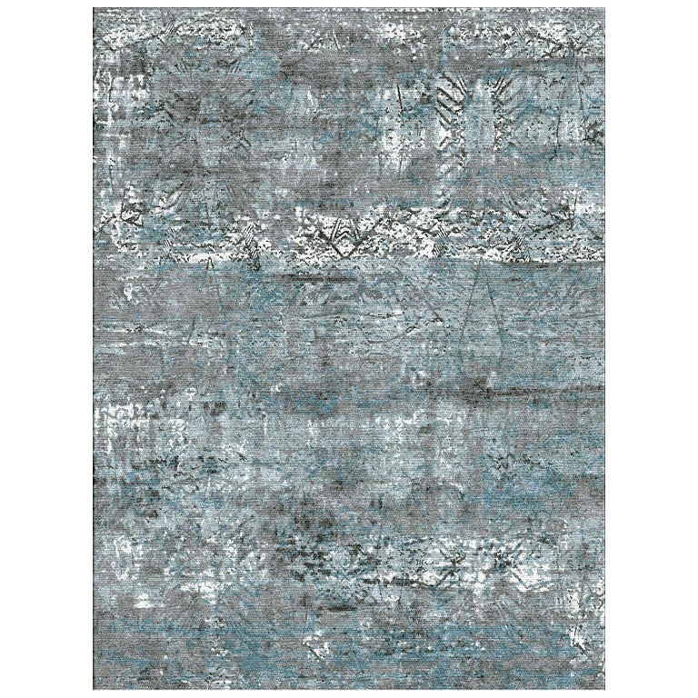 Schumacher Nexus Area Rug in Hand-Knotted Wool & Silk by Patterson Flynn Martin For Sale