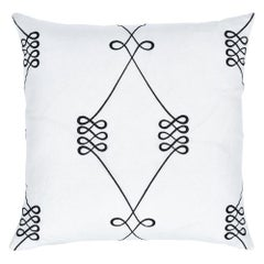 "Schumacher Nicolette Embroidery 22"" Pillow"