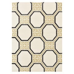 Schumacher Octavia Sisal Wallpaper in Gold and Jet