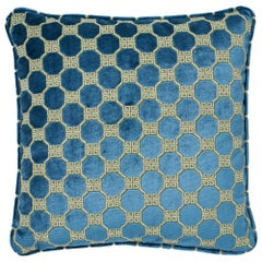 Schumacher Octavia Velvet Peacock Two-Sided Pillow