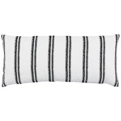 Schumacher Paloma Embroidery Linen Blend Striped Pillow