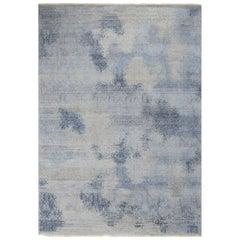 Schumacher Patterson Flynn Martin Badal Hand Knotted Wool Silk Modern Rug