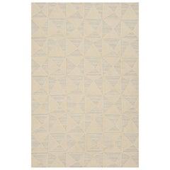 Schumacher Patterson Flynn Martin Gerrits Handwoven Wool Silk Geometric Rug
