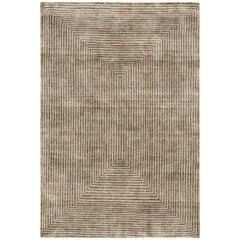 Schumacher Patterson Flynn Martin SPQR Hand Knotted Wool Silk Modern Rug