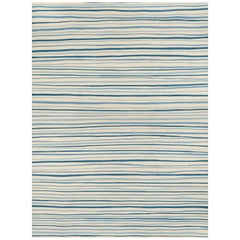Schumacher Patterson Flynn Martin Wavy Stripe Kilim Wool Modern Rug