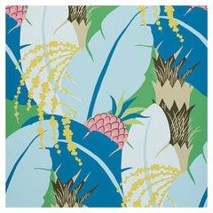 Schumacher Paul Poiret Ananas Peacock Floral Botanical Wallpaper