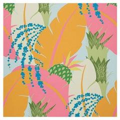 Schumacher Paul Poiret Ananas Tropical Floral Botanical Wallpaper