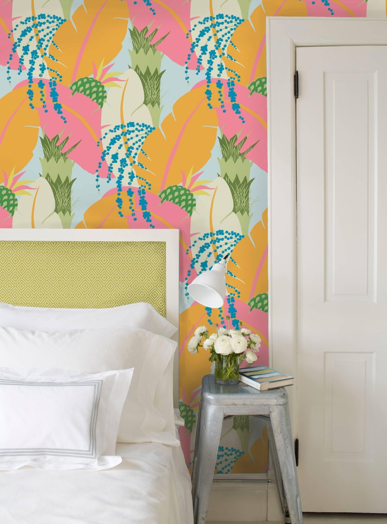 Schumacher Paul Poiret Ananas Tropical Floral Botanical Wallpaper