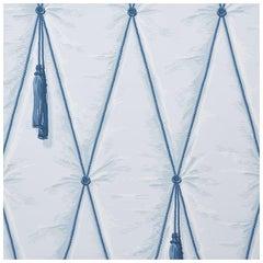 Schumacher Paul Poiret Drapery Wallpaper in Blue